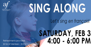Sing Along February 2018 Alliance Francaise de Los Angeles