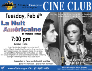 Cine Club La Nuit Americaine French Art Week Alliance Francaise de Los Angeles