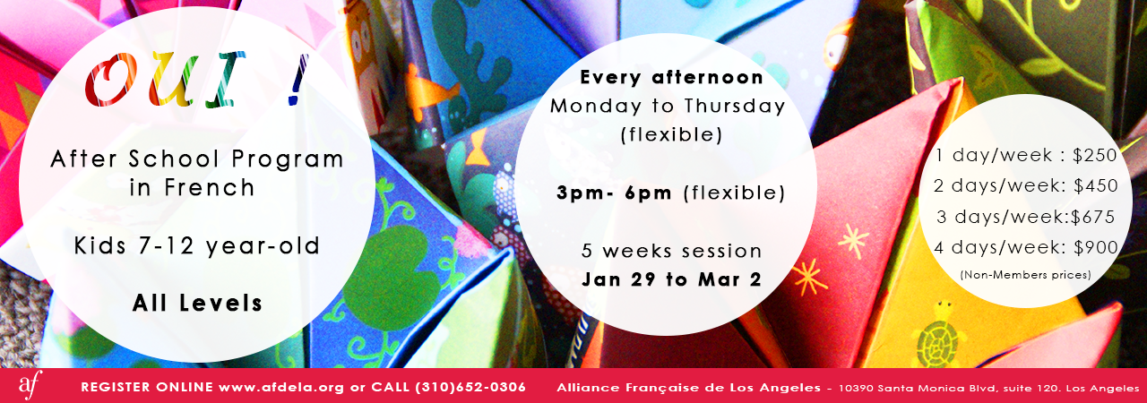 AfterSchool Program in French Alliance Française de Los Angeles