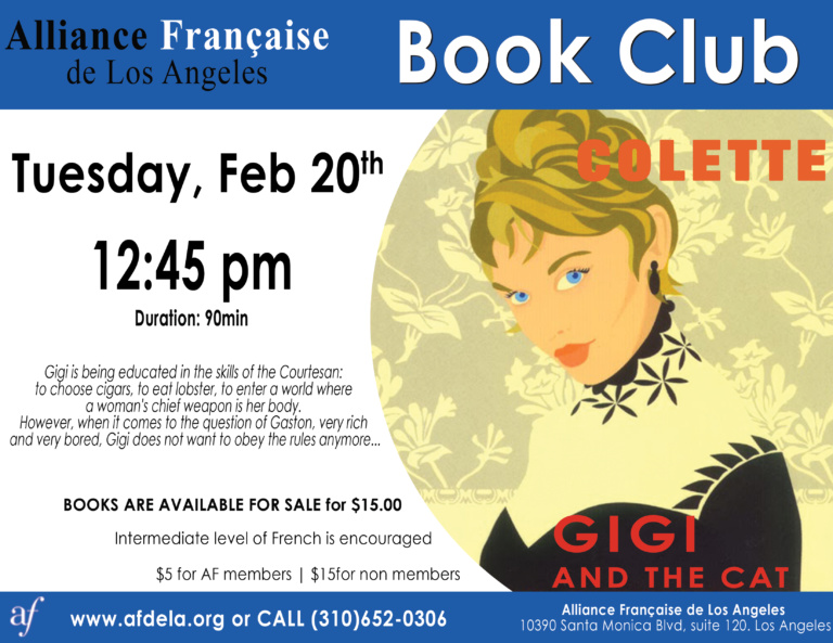 Gigi Book Club Alliance Francaise de Los Angeles