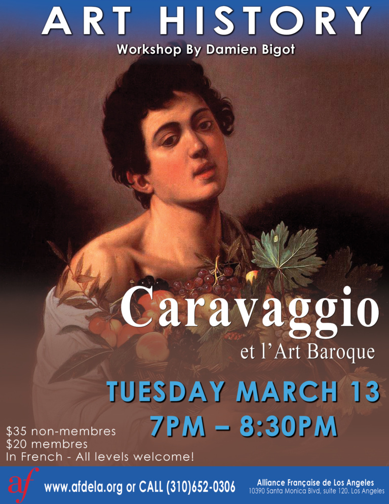 Art History conference, caravaggio and baroque art march 2018 alliance francaise de los angeles