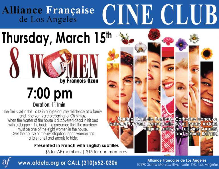 Flyer Cine Club March 2018 Alliance Francaise de los Angeles 8 women francois ozon
