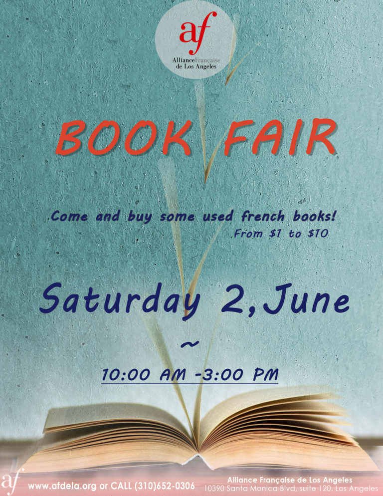 Book Fair June 2nd Alliance Francaise de Los Angeles 2018 French books to sell
