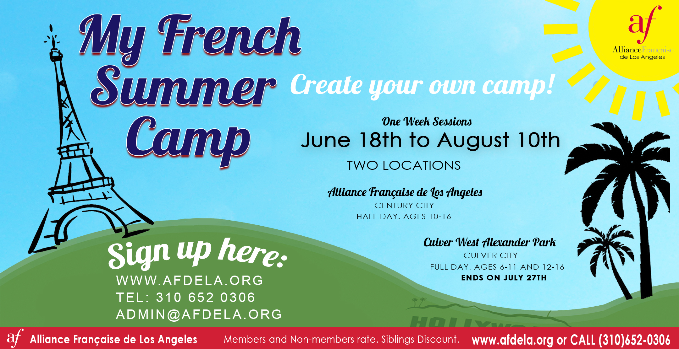 Summer Camp Alliance Francaise de Los Angeles French Summer Camp 2018